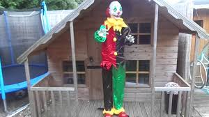 freestanding 6ft halloween party prop moving talking clown glowing