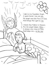 guardian angel coloring page sunday coloring pages