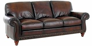 leather sofa traditional style world leather sofa w rolled arms nail