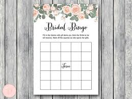 bridal shower gift bingo pink floral bridal shower printable bows