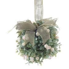 sparkling artificial mistletoe ornaments