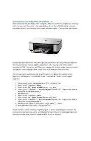 cara reset printer canon mp258 error e13 cara reset manual e16 dan error e13