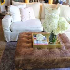 furniture leather ottoman coffee table for modern living room