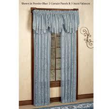 mia damask lace window treatment