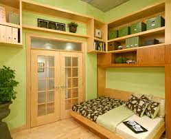 horizontal murphy bed home office contemporary with build in bunk