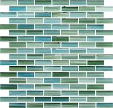 Green Kitchen Tile Backsplash Rip Curl Green And Blue Hand Painted Glass Subway Mosaic Tiles