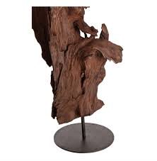 Home Sculptures by Kazu Root Mangrove Tree Iron Floor Sculpture Kathy Kuo Home