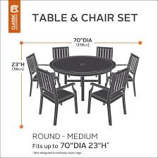Patio Dining Set Cover Belltown Round Outdoor Patio Table Set Cover