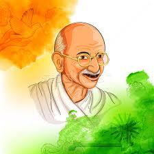 tricolor india background with nation hero and freedom fighter