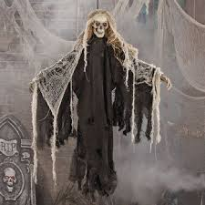 scary decorations deluxe creepy hanging skeleton decoration it