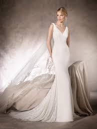 Fitted Wedding Dresses La Sposa Tank V Neck Long Fitted Wedding Gown Style Heidi Ls