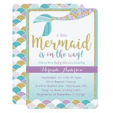 mermaid baby shower invitations mermaid baby shower invitatio on ballet baby shower invitations