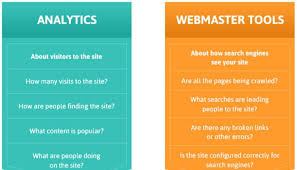 webmaster difference between google analytics and google webmaster tools