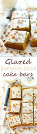 glazed pumpkin spice cake bars