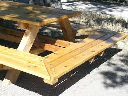 Picnic Table Plans Free Large Wood Picnic Tables Extra Large Picnic Table Plans Picnic