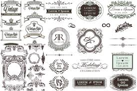 vintage ornate frames and decorative ornaments vector free