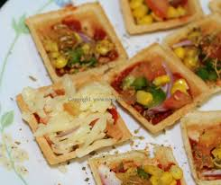 canape cups recipes canapes pizza cups recipe how to canapes pizza cups by neeru