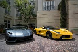 car ferrari wallpaper hd yellow ferrari laferrari and a lamborghini aventador 5k retina