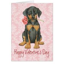 doberman pinscher puppy greeting cards zazzle co uk