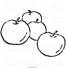 apple clipart four pencil and in color apple clipart four