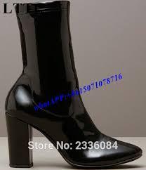 womens boots zipper back 2017 runway style boots kendall