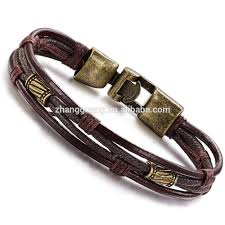 rope bracelet designs images Mens vintage leather wrap wrist band brown rope bracelet buy jpg