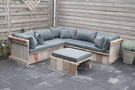 canapé de jardin en palette salon de jardin palette bon marché design exterieur salon jardin