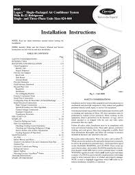 carrier 50sd instruction manual