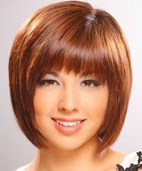 hairstyles for straight across bangs oblong face shape the right hairstyles for you
