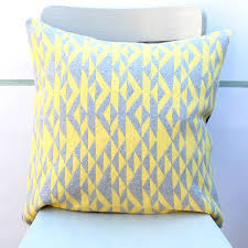 Knitted Cushion Cover Patterns Grey And Yellow U0027pelt U0027 Knitted Cushion By Gabrielle Vary Knitwear