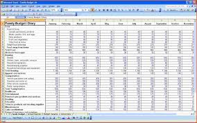Monthly Household Budget Spreadsheet by Household Budget Spreadsheetmemo Templates Word Memo Templates Word