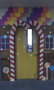 candy canes on the sides of the door but pointing to the outside