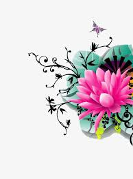 butterfly and lotus lotus butterfly flowers png and psd file for