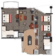 Hotel Suite Floor Plan Twelve Hotels U0026 Residences Atlantic Station