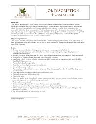 Resume Employment Goals Examples by Housekeeper Or Nani Resume Example Free Resumes Tips