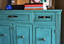 Turquoise Entry Table by Buffet Mini Makeover The Steen Style
