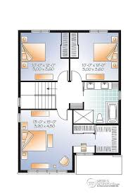 les 3 chambres w3710 v1 plan de maison moderne 3 chambres grand vestibule