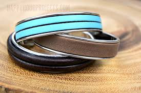 leather jewelry cuff bracelet images The three minute diy leather bracelet cuff happy hour projects jpg