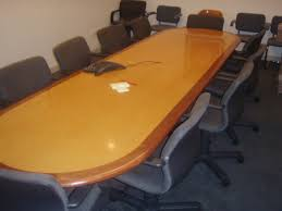 12 ft conference table 12 foot conference table with inlay used cherry finish coffee