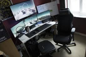 desk l desks for gaming in stylish battle station gaming