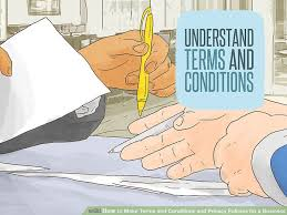 how to make terms and conditions and privacy policies for a business