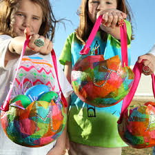 paper mache easter baskets easter basket with just a balloon tissue paper and collage pauge