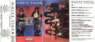 Album Inserts Kiss Related Recordings Mark St John White Tiger 1986