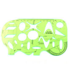 bcp plastic math drawing protractor template ruler for students ebay