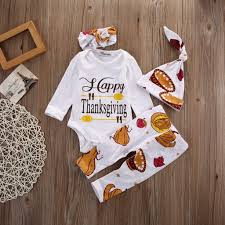 thanksgiving 4pcs suit fontanksgiving newborn baby boys