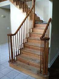 Sanding Banister Spindles Hardwood Floor Wholesale Installers Stair Contractor Nj New