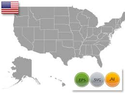 vector us map states free free us map silhouette vector usa map vector graphics