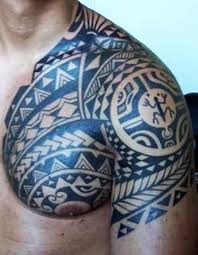 men chest and half sleeve samoan tattoo golfian com