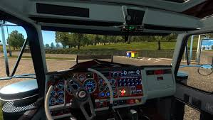 kenwood t800 kenworth w900 long 1 18 truck euro truck simulator 2 mods