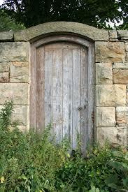 secret garden door stock image image of gate approach 939687